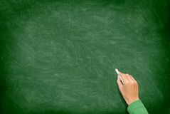 Blackboard / Chalkboard with Hand Royalty Free Stock Photo