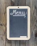 Blackboard chalkboard menu Royalty Free Stock Photos