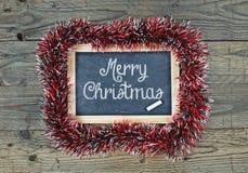 Blackboard chalkboard Merry Christmas Stock Photography