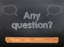 Blackboard Chalkboard Question Stock Photos