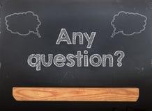 Blackboard Chalkboard Question Stock Photos