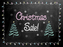 Blackboard or Chalkboard sign with the words Christmas Sale Royalty Free Stock Photos