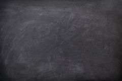 Blackboard / Chalkboard texture. Empty blank black chalkboard with chalk traces Stock Images
