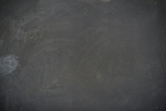 Blackboard ( chalkboard ) texture. Empty blank black chalkboard with chalk traces Stock Photo