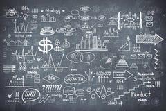 Blackboard chalkboard texture infographics Royalty Free Stock Photos
