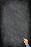 Blackboard / chalkboard - vertical hand writing Royalty Free Stock Photos