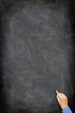 Blackboard / chalkboard - vertical hand writing royalty free stock photos