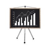 Blackboard with chart Stock Photo
