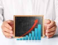 Blackboard with chart Stock Photos
