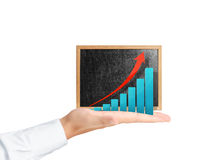 Blackboard with chart Stock Photography