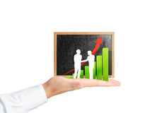 Blackboard with chart Royalty Free Stock Image