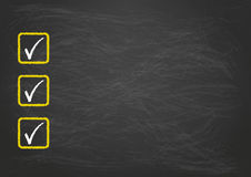 Blackboard Checklist 3 Ticks Royalty Free Stock Images