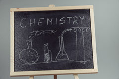 Blackboard with the chemical formula Royalty Free Stock Images