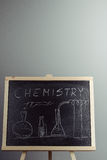 Blackboard with the chemical formula Royalty Free Stock Photos