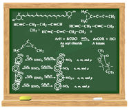 Blackboard with chemical formulas Stock Photo