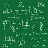 Blackboard chemistry equation structure 2 Stock Image