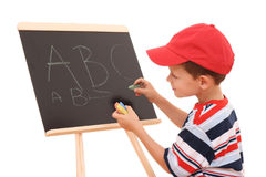 Blackboard and child Royalty Free Stock Photo