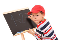Blackboard and child Royalty Free Stock Photography