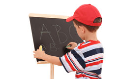 Blackboard and child Stock Image