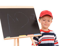 Blackboard and child Royalty Free Stock Image