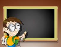 Blackboard and children. Stock Image