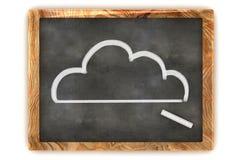 Blackboard chmura Zdjęcie Royalty Free