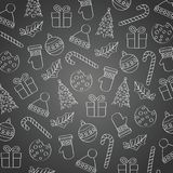 Blackboard Christmas background stock illustration