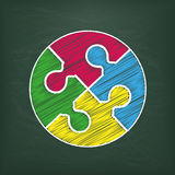 Blackboard Circle Puzzle Royalty Free Stock Photography