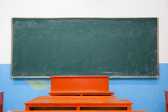 Blackboard in classroom Royalty Free Stock Photography