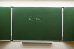 Blackboard in the classroom Stock Photo