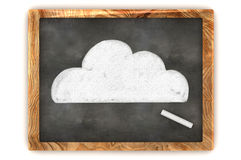 Blackboard Cloud. A Colourful 3d Rendered Concept Illustration showing a Cloud Drawn on a Blackboard Stock Photography