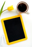 Blackboard and coffee Stock Photography