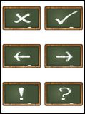 Blackboard collection 1 Stock Images
