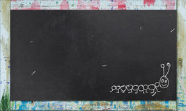 Blackboard with Colorful Frame Stock Images