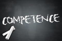 Blackboard Competence. Blackboard Illustration with Competence wording Stock Illustration