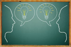 Blackboard concept Stock Image