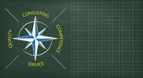 Blackboard Consulting Compass Copyspace Stock Image