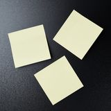 Blackboard covered with sticky notes Royalty Free Stock Photos