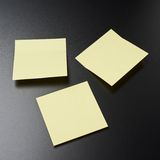 Blackboard covered with sticky notes Royalty Free Stock Images