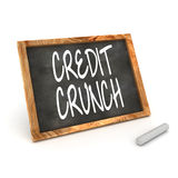 Blackboard Credit Crunch Royalty Free Stock Images