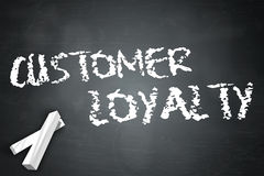 Blackboard Customer Loyalty. Blackboard with Customer Loyalty wording Stock Image