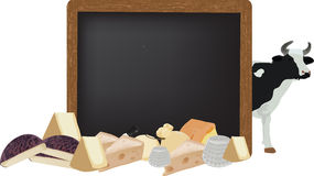 Blackboard with dairy cattle Royalty Free Stock Images