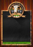 Blackboard for Dairy Products Stock Photos