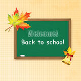 Blackboard decorated Royalty Free Stock Image