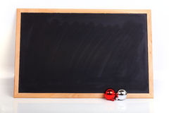 Blackboard decorated merry christmas day Stock Photo