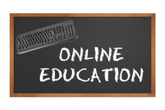 Blackboard depicting online education Royalty Free Stock Photography
