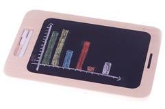 Blackboard diagram Stock Image