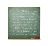 Blackboard with a discipline message written on it Stock Photography