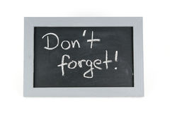 Blackboard dont forget Stock Image