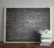 Blackboard with drawing formulas Stock Photo